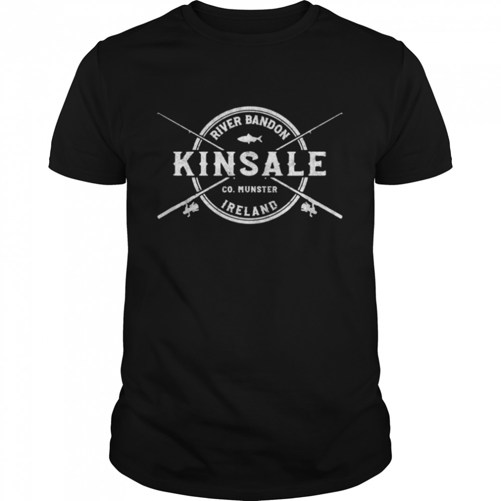 Kinsale Vintage Crossed Fishing Rods shirt Classic Men's T-shirt