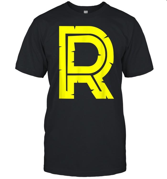 R Yellow Alphabet Monogram Initials shirt Classic Men's T-shirt