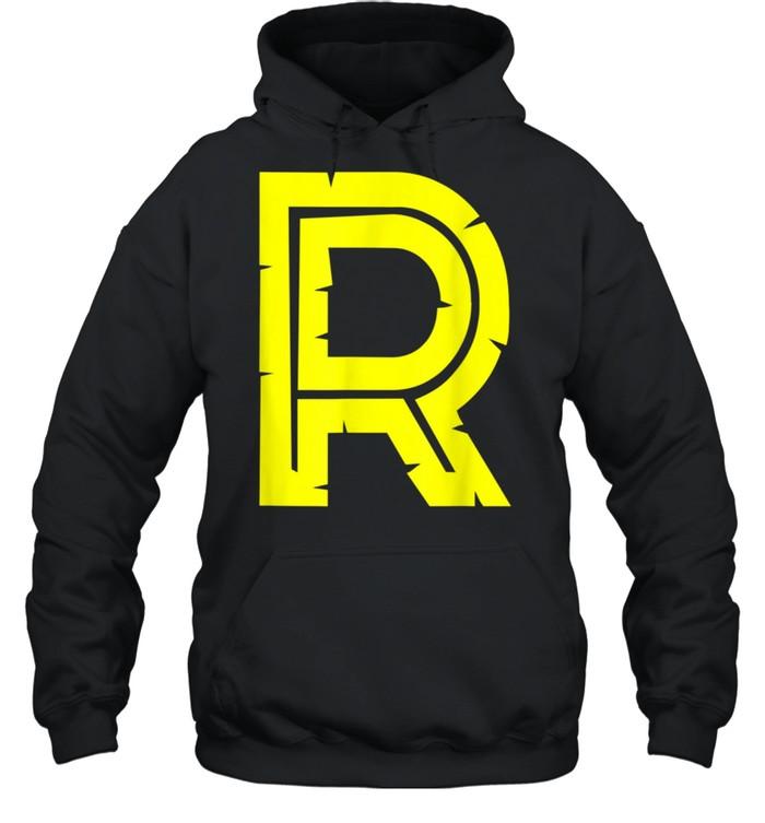 R Yellow Alphabet Monogram Initials shirt Unisex Hoodie