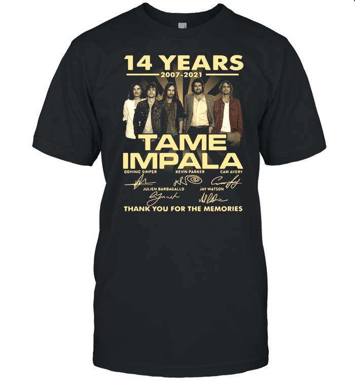 14 Years 2007 2021 Tame Impala Signatures Thank You For The Memories T-shirt Classic Men's T-shirt