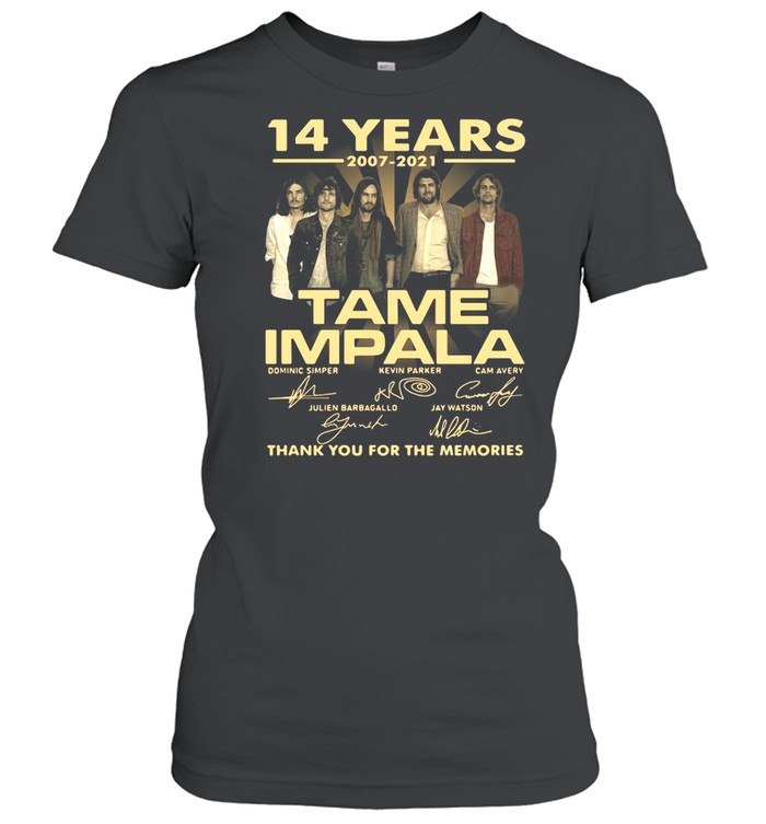 14 Years 2007 2021 Tame Impala Signatures Thank You For The Memories T-shirt Classic Women's T-shirt