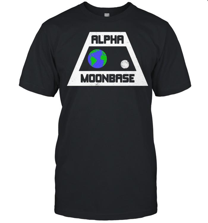 Alpha Moonbase Earth Moon  Classic Men's T-shirt