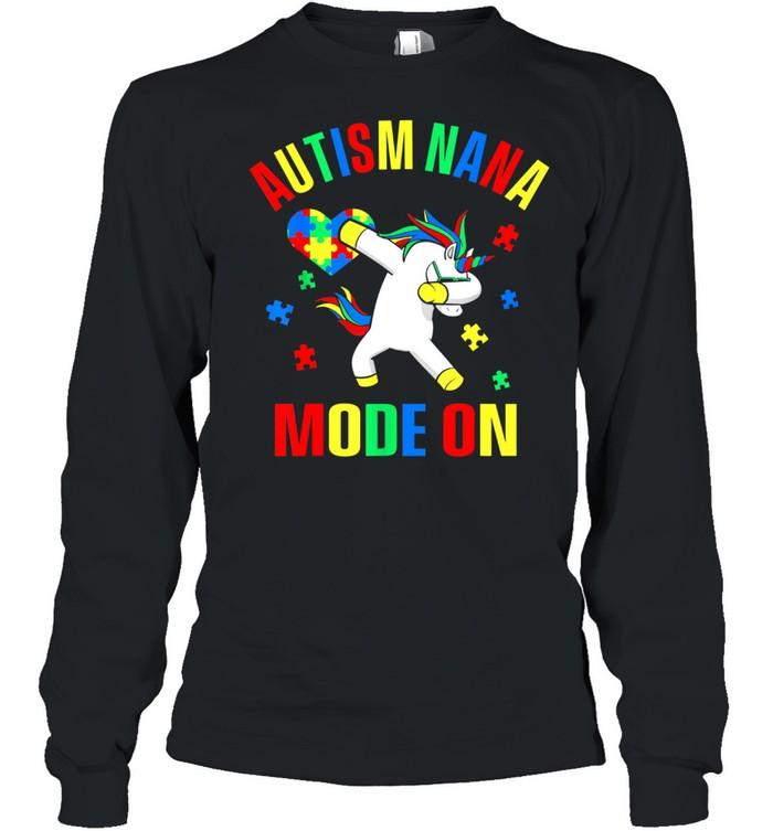 Autism Nana Grandma Mode Grandmother Mothers Day shirt Long Sleeved T-shirt