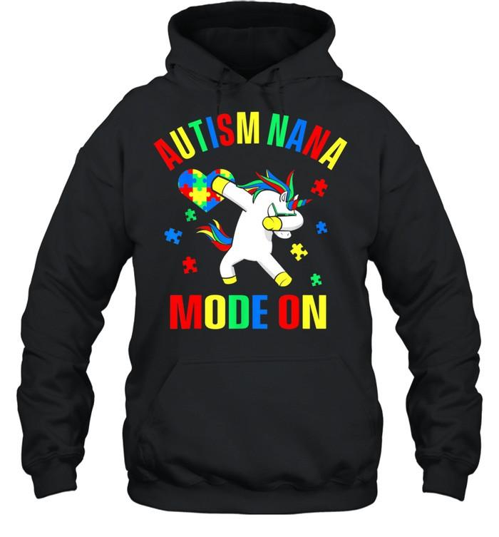 Autism Nana Grandma Mode Grandmother Mothers Day shirt Unisex Hoodie