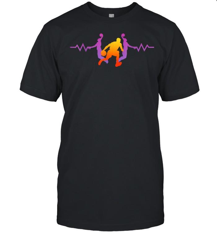 Basketball Heartbeat Basketball Frequency Baskets Throw shirt Classic Men's T-shirt